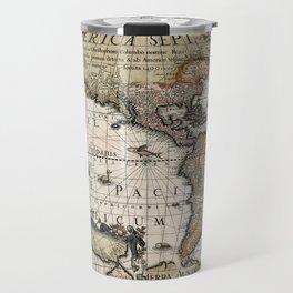 Map Of America 1614 Travel Mug