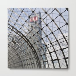 train station - glass - Berlin Metal Print