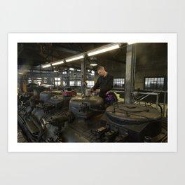 Station for stem locomotives Art Print