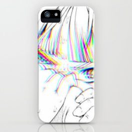 Sad anime aesthetic - daddy issues iPhone Case