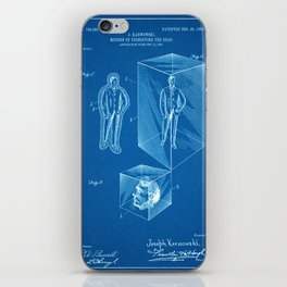 1903 Method for Preserving the Dead Patent - Blueprint Style iPhone Skin
