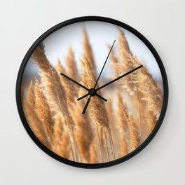 Watercolor Seed, Grass Seed 01, Janes Island, Maryland Wall Clock