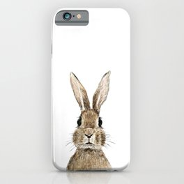 cute innocent rabbit iPhone Case