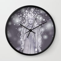 valar morghulis Wall Clocks featuring Varda, valar of light by AlyTheKitten