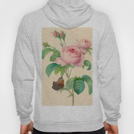 Selection of the most beautiful flowers Pink Rose - Pierre-Joseph Redouté - 1827 Hoody