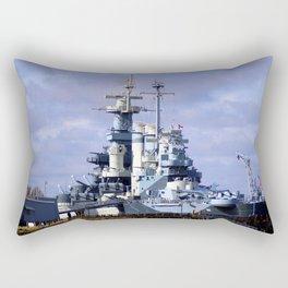USS North Carolina BB-55 Rectangular Pillow