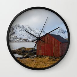 The red shed Wall Clock