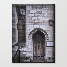 Lincoln Cathedral Refectory Door Canvas Print