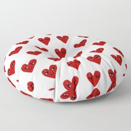 Heart love valentines day gifts hearts with faces cute valentine Floor Pillow