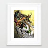 vendetta Framed Art Prints featuring Vendetta by BlacQueen