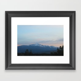 Pikes Peak in the Evening Framed Art Print