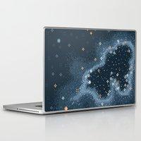 8bit Laptop & iPad Skins featuring Grey Rift Galaxy (8bit) by Sarajea