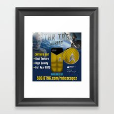 Star Trek Series - Captain Suit Framed Art Print