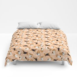 beagle scatter peach Comforters