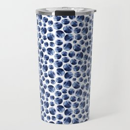 Blueberries Pattern Travel Mug