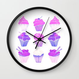 Cupcake Collection – Unicorn Palette Wall Clock