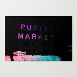 Seattle's Pike Place Canvas Print