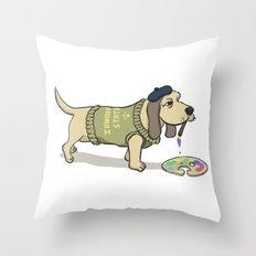 A Painting Dog Throw Pillow