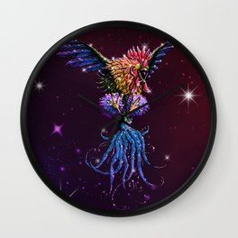 Cosmic Rooster Wall Clock