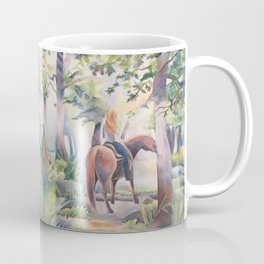 Quiet Woodland Horse Ride Coffee Mug