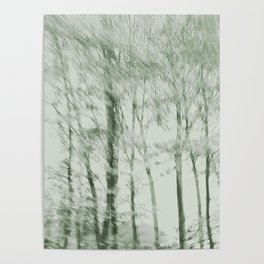 Windy woods (green) Poster