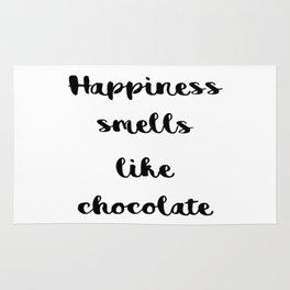 Happiness smells like chocolate Rug