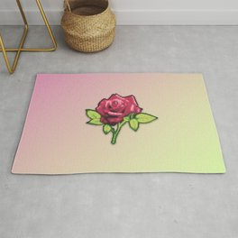 Retro Glow Rose Rug