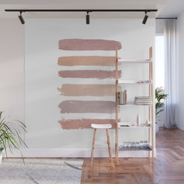 Dusty Rose Stripes Wall Mural