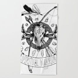 Spiritual Warrior Beach Towel