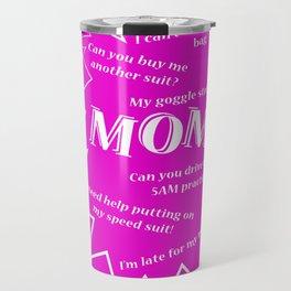 Swim Mom Smartphone PINK/WHITE Travel Mug