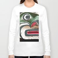 totem Long Sleeve T-shirts featuring Totem by Renee Ansell