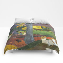 Mata Mua by Paul Gauguin Comforters