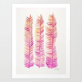 Pink Ombré Seaweed Art Print