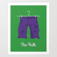 hulk Art Prints featuring Hulk by Jane Mathieu