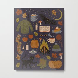 Autumn Nights Metal Print