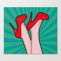 sexy Canvas Prints featuring sexy  by mark ashkenazi