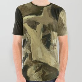 Vincent van Gogh - Skull of a Skeleton with Burning Cigarette All Over Graphic Tee