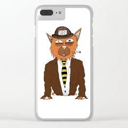 Fuck Off Bum Cat Clear iPhone Case