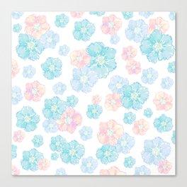 Blossoms Pastel  Canvas Print