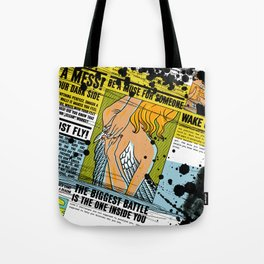 The biggest Battle is the one inside you (Color) Tote Bag