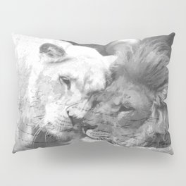 Lion in Love Valentine's Day Pillow Sham