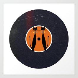 Vinyl Record Art & Design | Mid-Century Modern Art Cats Double 2.0 Art Print