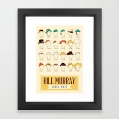 Bill's Hat Collection Framed Art Print