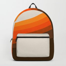 Golden Horizon Diptych - Right Side Backpack