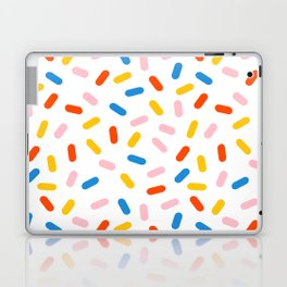Livin' It - abstract pattern minimal modern primary colors pantone gender neutral retro throwback Laptop & iPad Skin