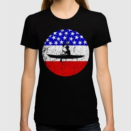 American Flag Kayaking T-shirt