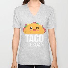 Taco Tuesday Funny Tacos Foodie Mexican Fiesta Taco Camiseta T-Shirt Unisex V-Neck