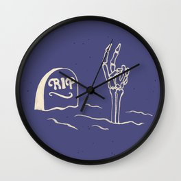Rest in Peace Wall Clock