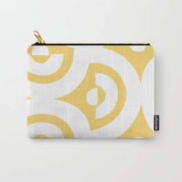 YELLOW + WHITE Carry-All Pouch