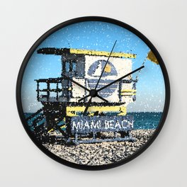 Welcome to Miami...Beaches Wall Clock